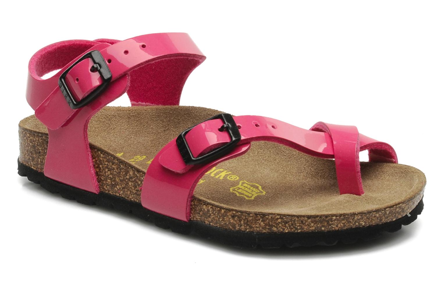 Sandals Birkenstock Taormina Birko-Flor Pink detailed view/ Pair view