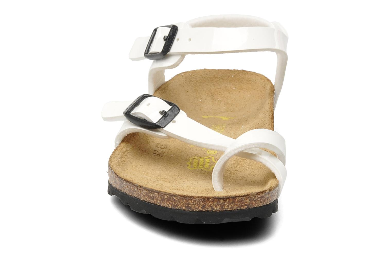 Sandalen Birkenstock Taormina Birko-Flor weiß schuhe getragen