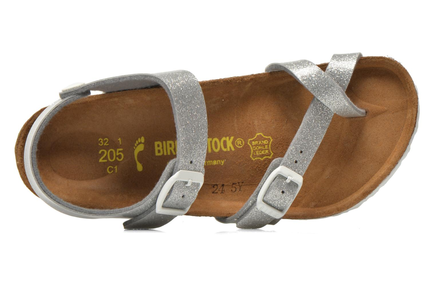 Sandals Birkenstock Taormina Birko-Flor Silver view from the left