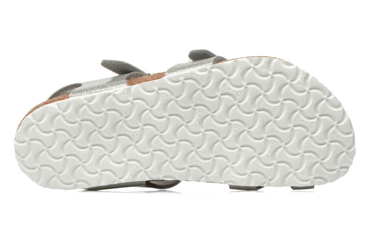 Sandals Birkenstock Taormina Birko-Flor Silver view from above