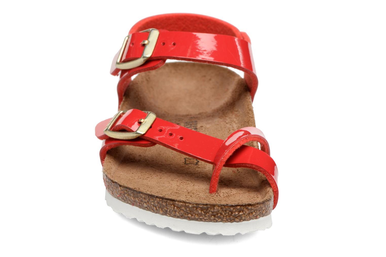 Sandales et nu-pieds Birkenstock Taormina Birko-Flor Rouge vue portées chaussures