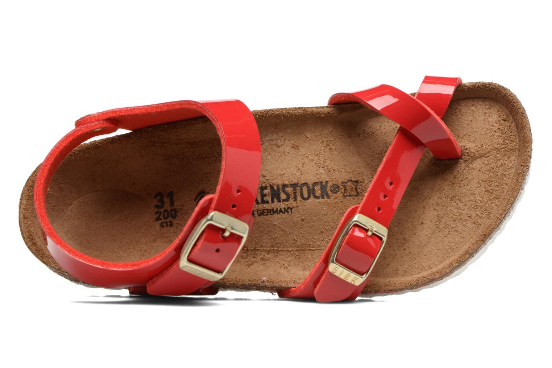 Sandalias Birkenstock Taormina Birko-Flor Rojo vista lateral izquierda