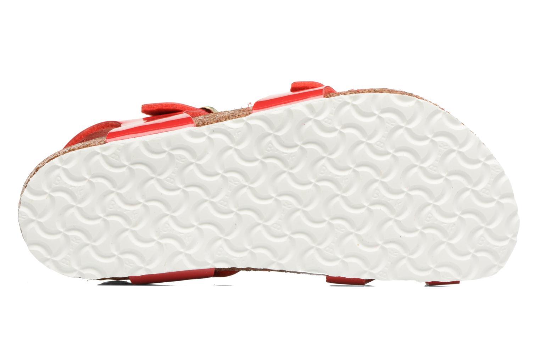 Sandales et nu-pieds Birkenstock Taormina Birko-Flor Rouge vue haut