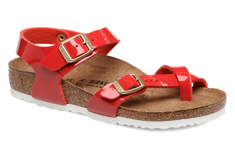 Sandales et nu-pieds Birkenstock Taormina Birko-Flor Rouge vue détail/paire