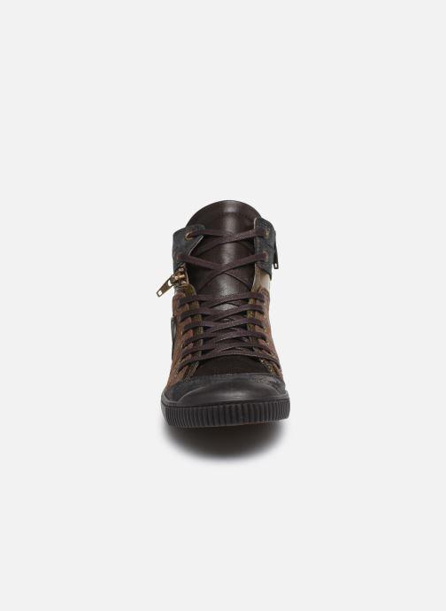 Baskets Pataugas Banjou Marron vue portées chaussures