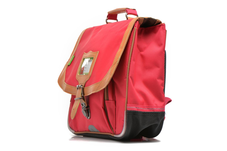 Per la scuola Tann's Cartable 35 cm CLASSIC Rosa modello indossato
