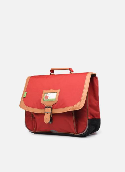 Scolaire Tann's Cartable 38 cm CLASSIC Rouge vue portées chaussures