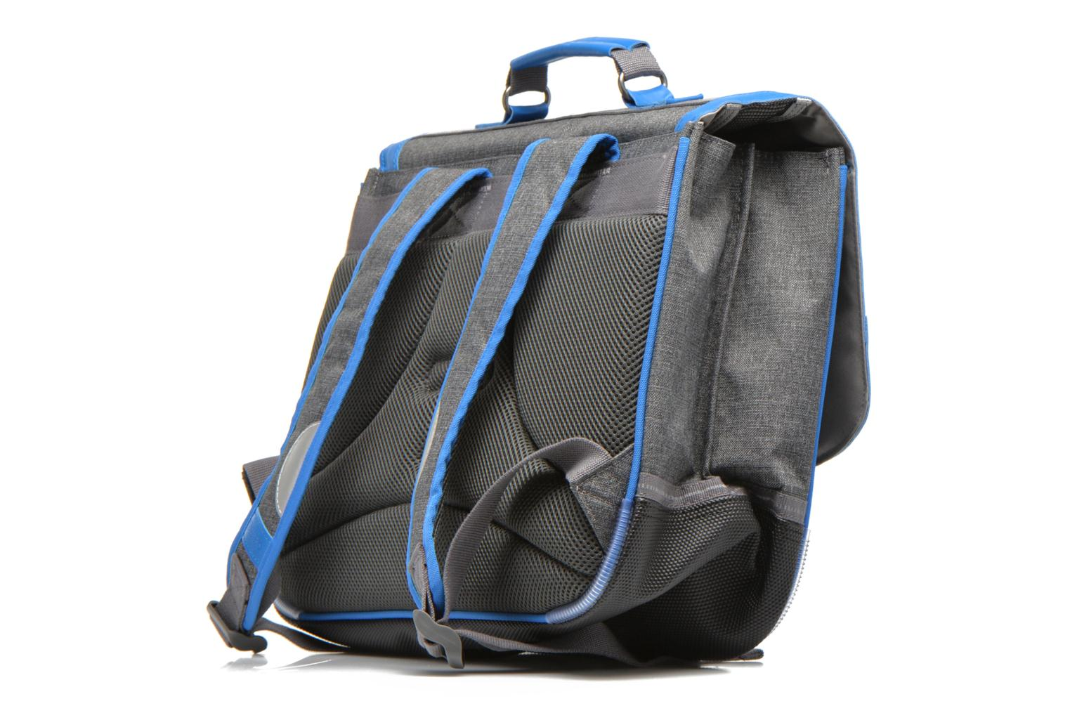 School bags Tann's Cartable 38 cm CLASSIC Grey view from the right