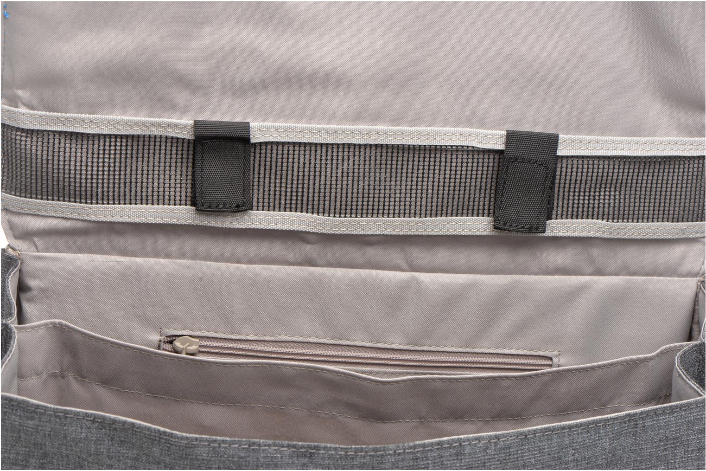 School bags Tann's Cartable 38 cm CLASSIC Grey back view