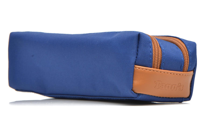 Per la scuola Tann's Trousse double CLASSIC Azzurro modello indossato