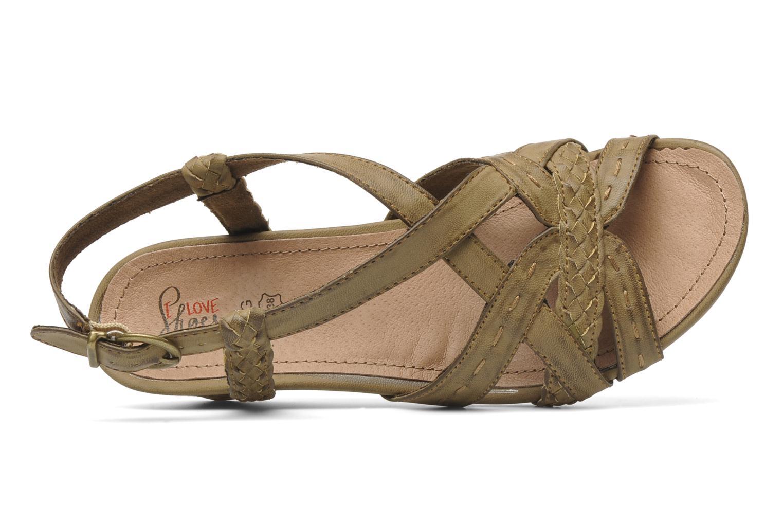 Sandales et nu-pieds I Love Shoes Suzanita Marron vue gauche