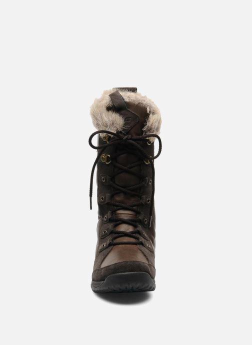 Chaussures de sport Teva Lenawee Lther Wp Marron vue portées chaussures
