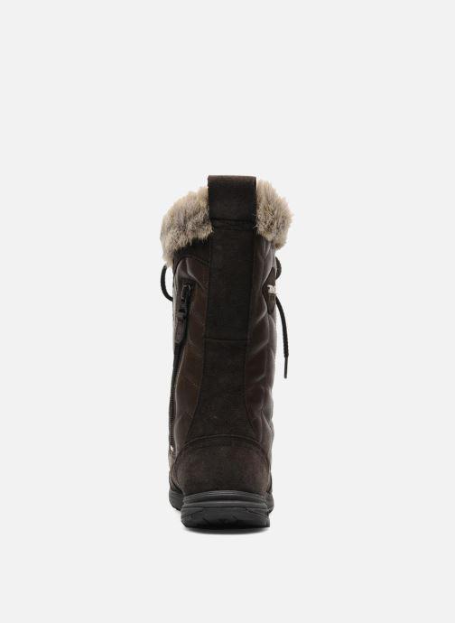 Chaussures de sport Teva Lenawee Lther Wp Marron vue droite