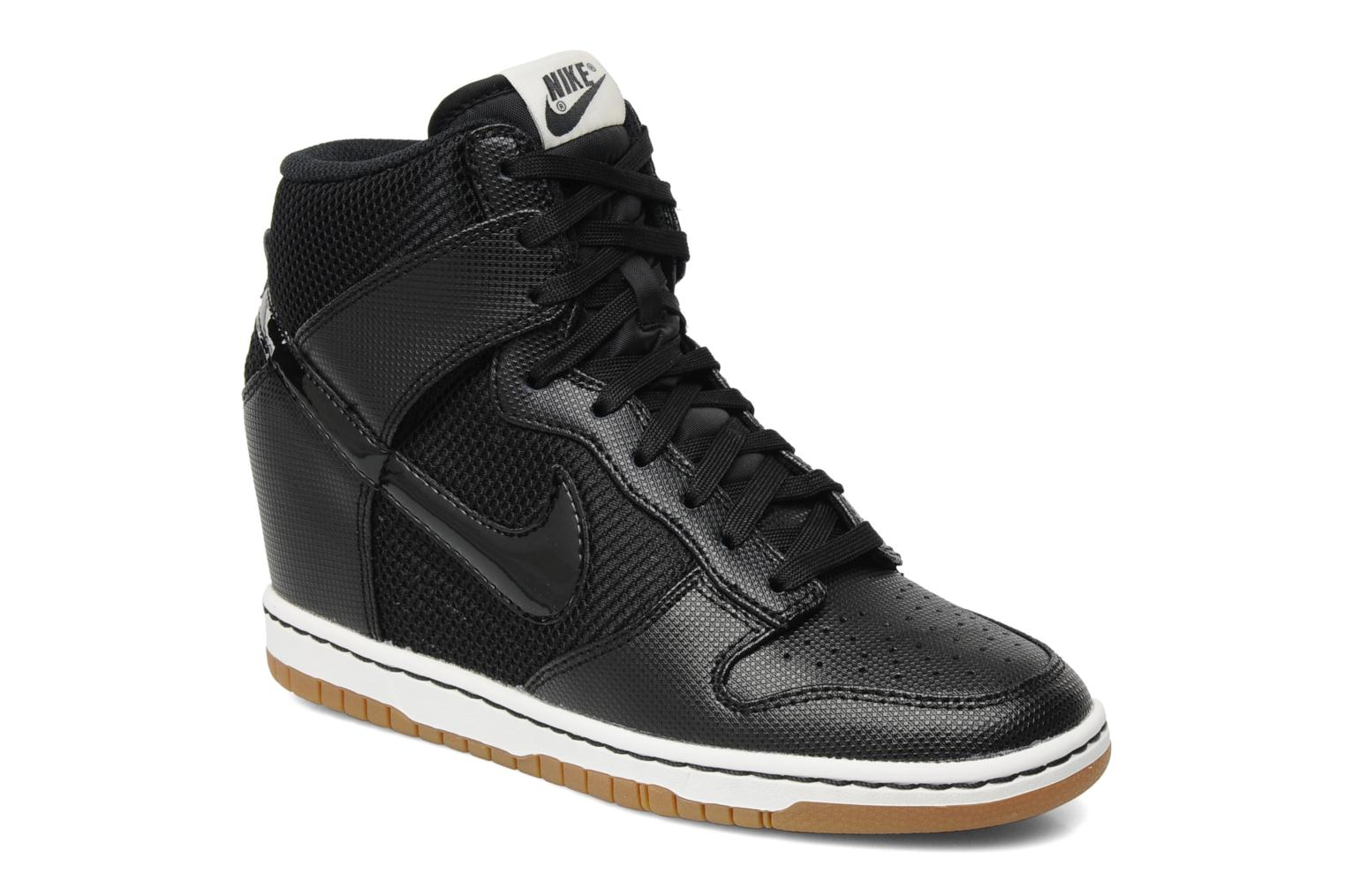 f69a6d1b9271 ... white fireberry 36657 bfb47  closeout trainers nike wmns dunk sky hi  mesh black detailed view pair view 3e8c7 f7652