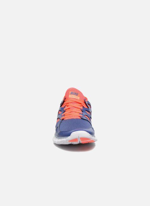 Sportschuhe Nike Wmns Nike Free Run+ 2 Ext blau schuhe getragen