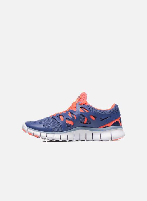 Sportschuhe Nike Wmns Nike Free Run+ 2 Ext blau ansicht von vorne
