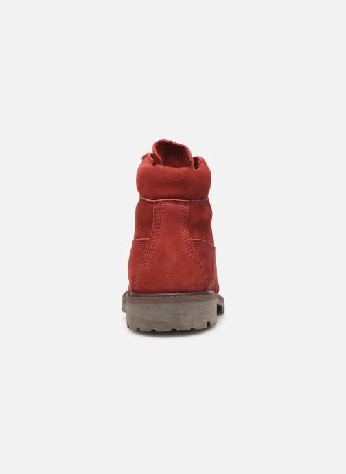 Botines  Timberland 6 In Premium WP Boot Rojo vista lateral derecha