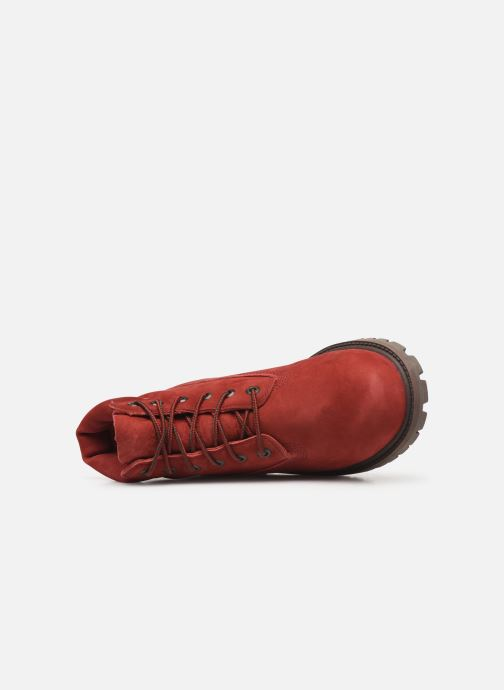 Botines  Timberland 6 In Premium WP Boot Rojo vista lateral izquierda