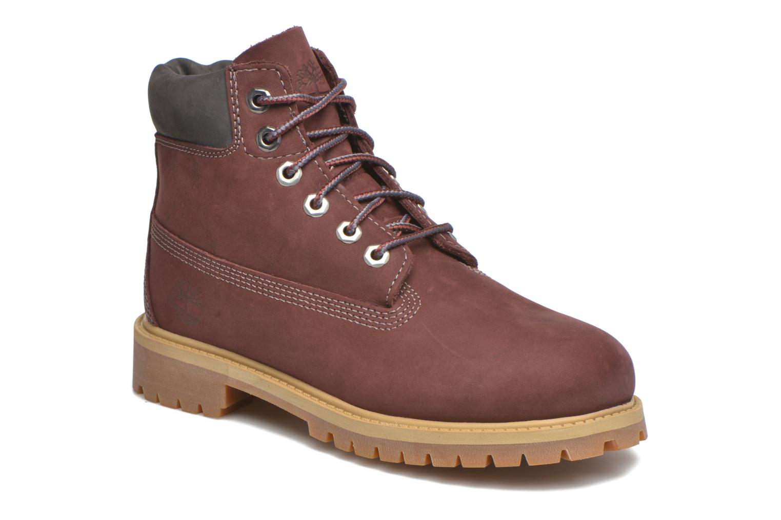 Bottines et boots Timberland 6 In Premium WP Boot Bordeaux vue détail/paire