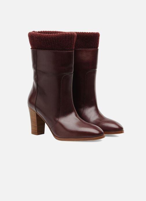 Ankle boots Sonia Rykiel Sepia Burgundy 3/4 view