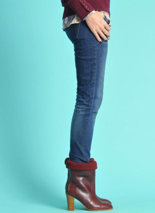 Ankle boots Sonia Rykiel Sepia Burgundy view from underneath / model view