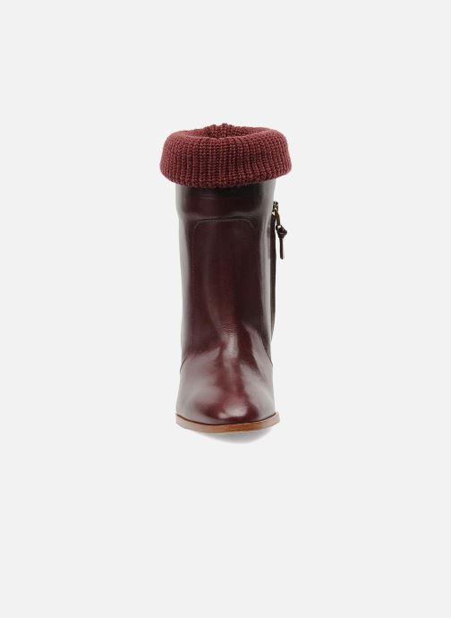 Bottines et boots Sonia Rykiel Sepia Bordeaux vue portées chaussures