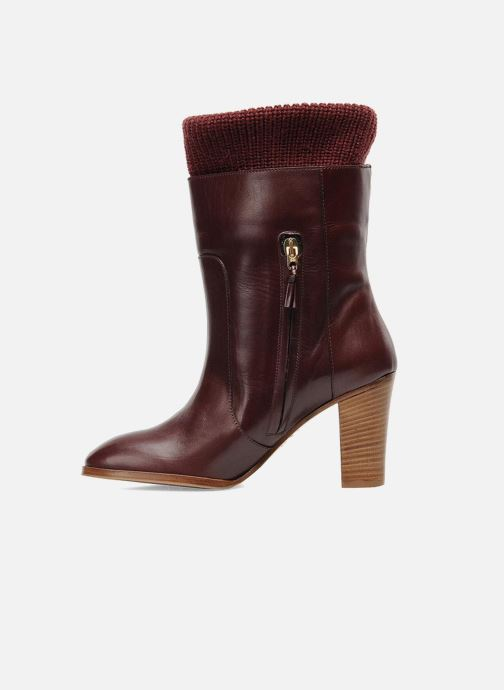 Ankle boots Sonia Rykiel Sepia Burgundy front view
