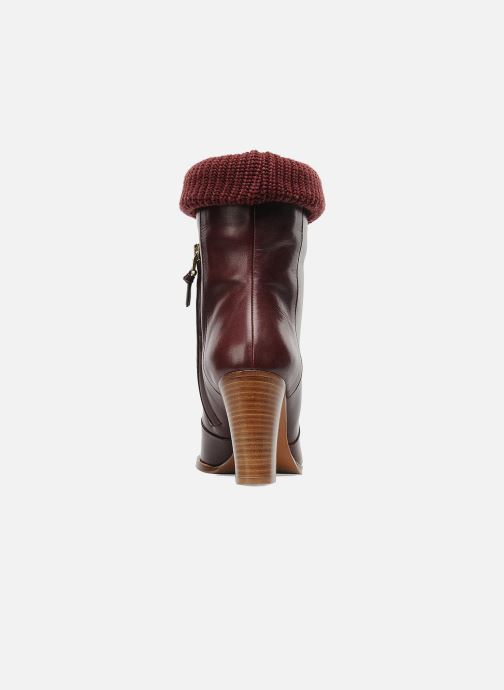 Ankle boots Sonia Rykiel Sepia Burgundy view from the right
