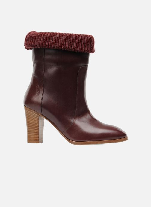 Ankle boots Sonia Rykiel Sepia Burgundy back view