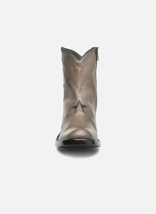 Stivaletti e tronchetti Mexicana Star Marrone modello indossato