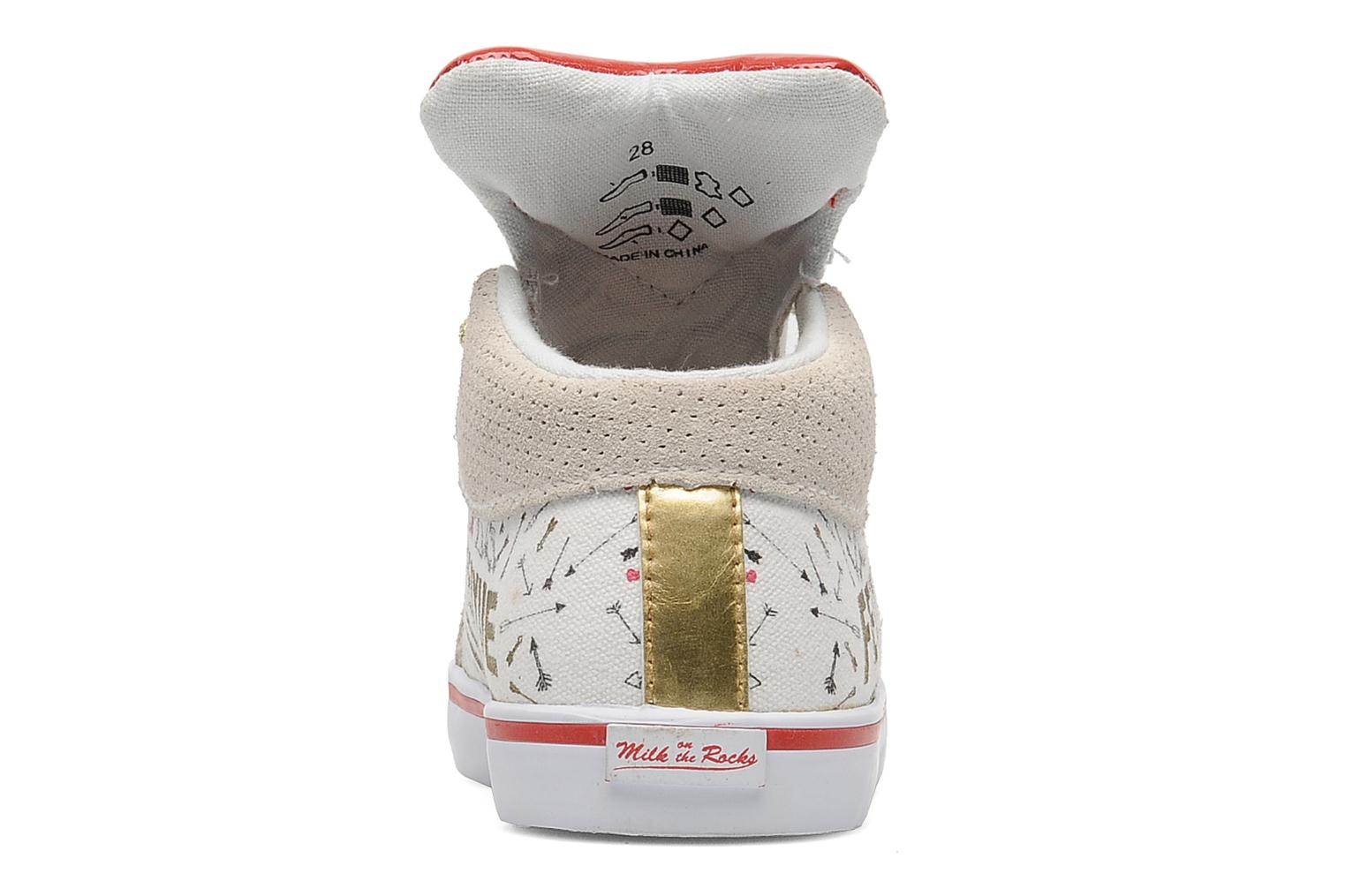 Baskets Feiyue Delta Mid Kid X Milkon The Rocks Blanc vue droite