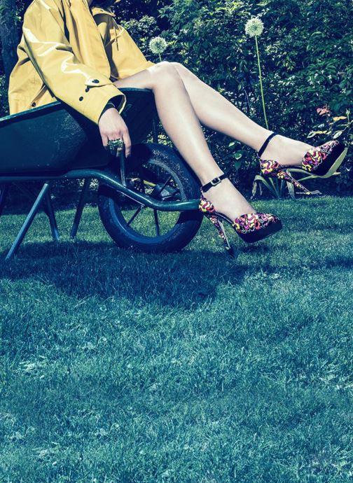 Sandales et nu-pieds Terry de Havilland Poppy Multicolore vue 3/4