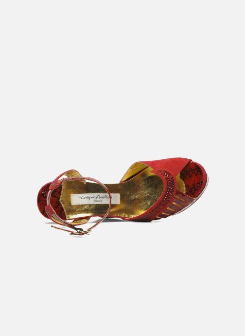 Sandales et nu-pieds Terry de Havilland Margaux 40 Rouge vue gauche