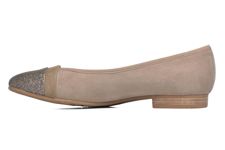 Bailarinas Jana shoes Molia Beige vista de frente
