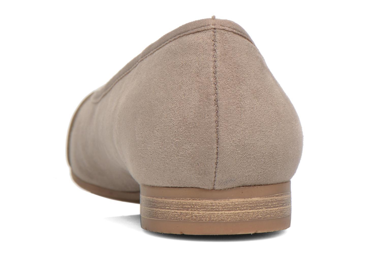Bailarinas Jana shoes Molia Beige vista lateral derecha