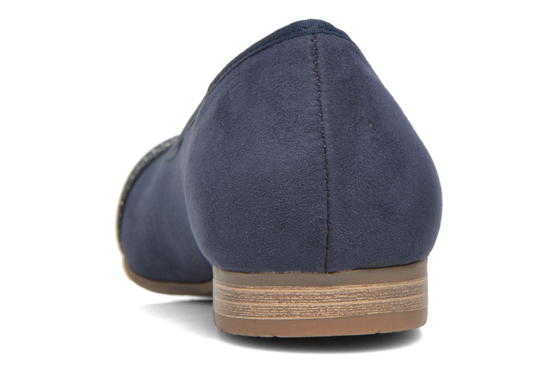 Bailarinas Jana shoes Molia Azul vista lateral derecha
