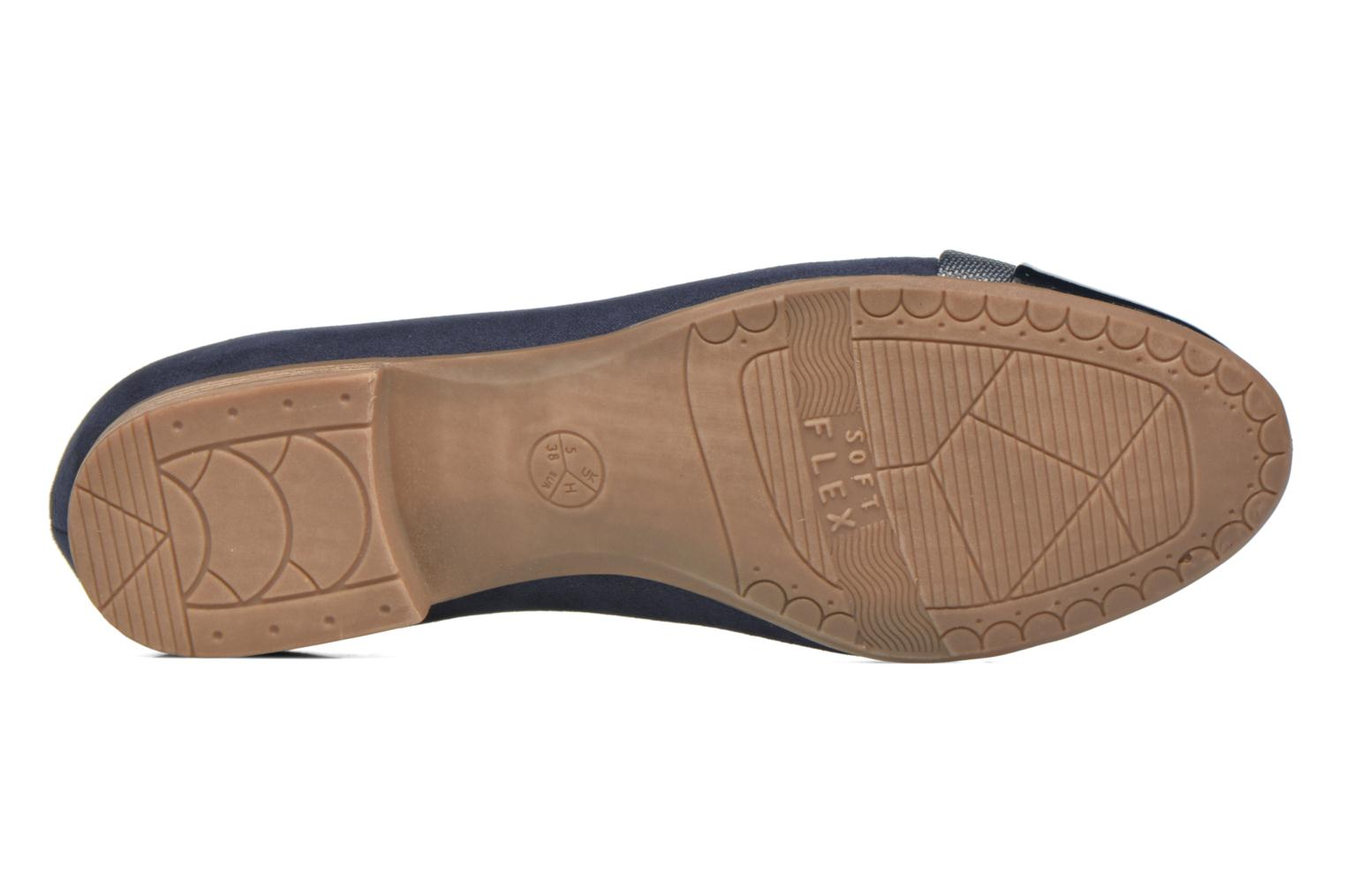 Ballet pumps Jana shoes Molia Blue view from above