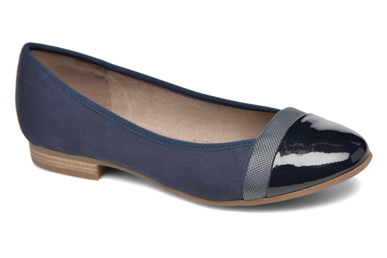 Ballet pumps Jana shoes Molia Blue detailed view/ Pair view