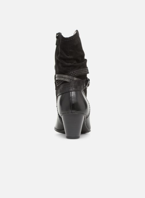 Ankle boots Jana shoes Tombo Black view from the right