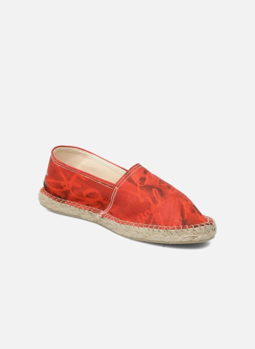 Espadrilles String Republic Jesus is Lord by Sockho W Red detailed view/ Pair view