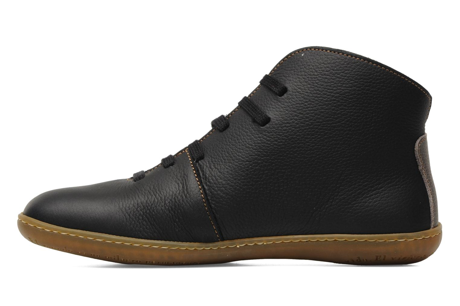 Lace-up shoes El Naturalista Viajero N267 W Black front view