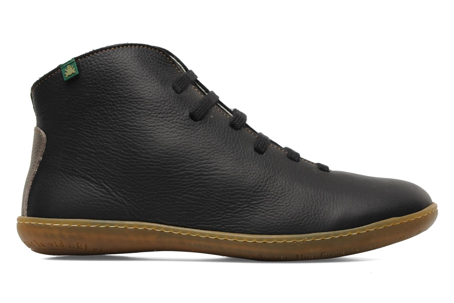 Lace-up shoes El Naturalista Viajero N267 W Black back view