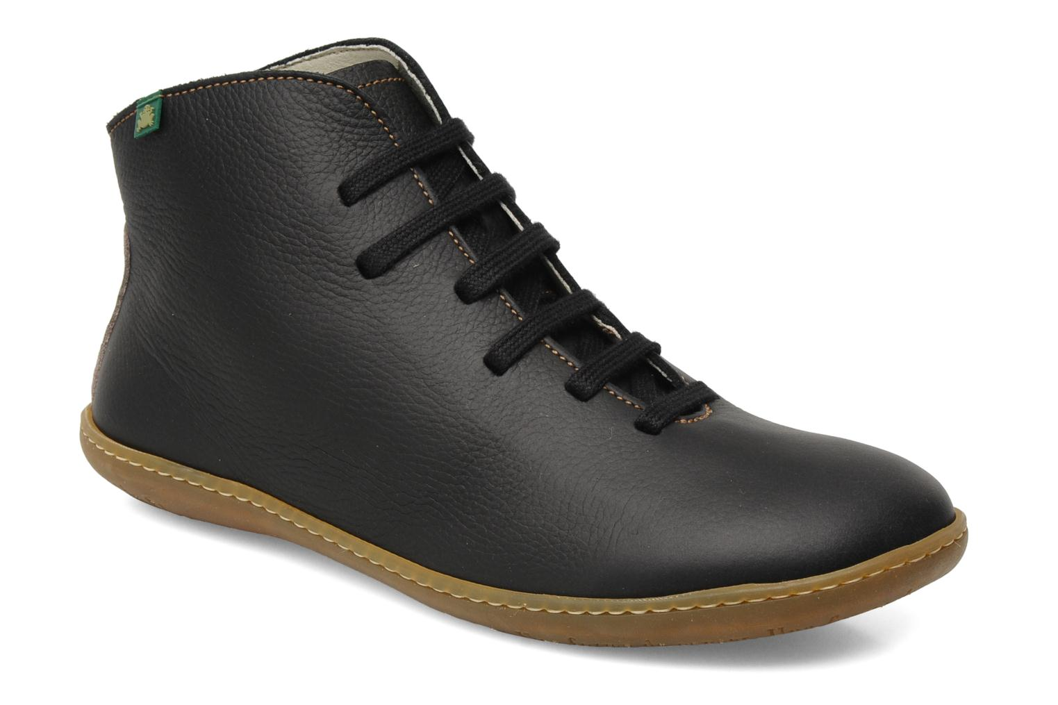 Lace-up shoes El Naturalista Viajero N267 W Black detailed view/ Pair view