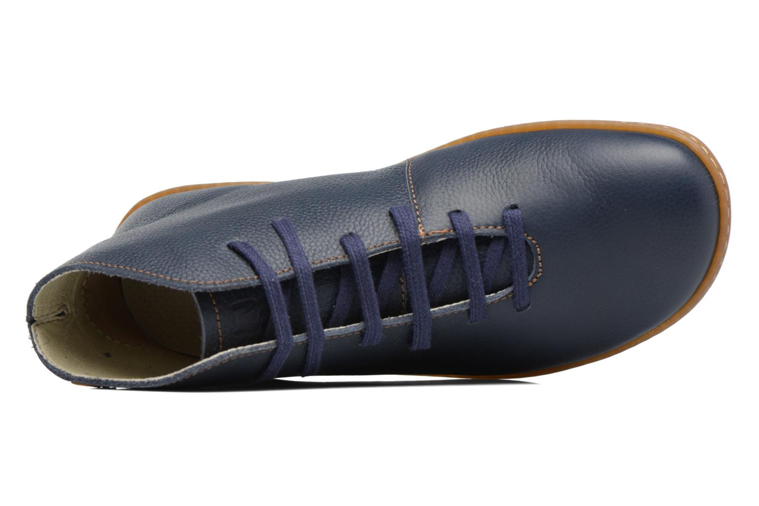 Lace-up shoes El Naturalista Viajero N267 W Blue view from the left