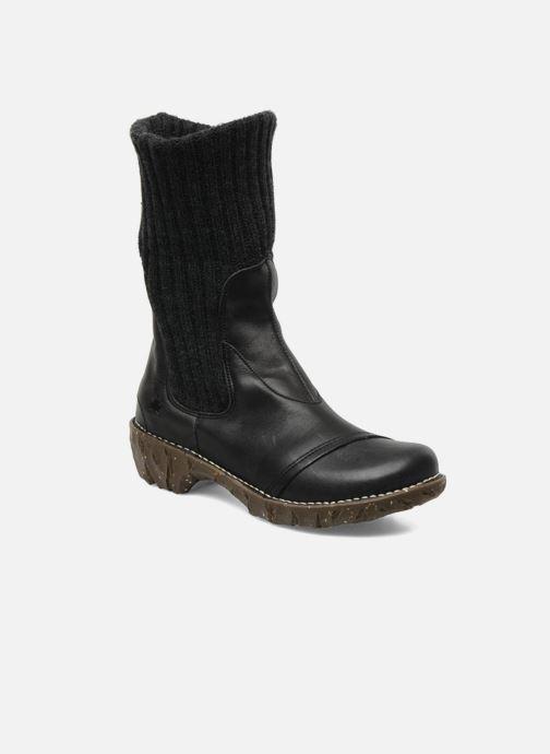 Ankle boots El Naturalista Iggdrasil N097 Black 3/4 view