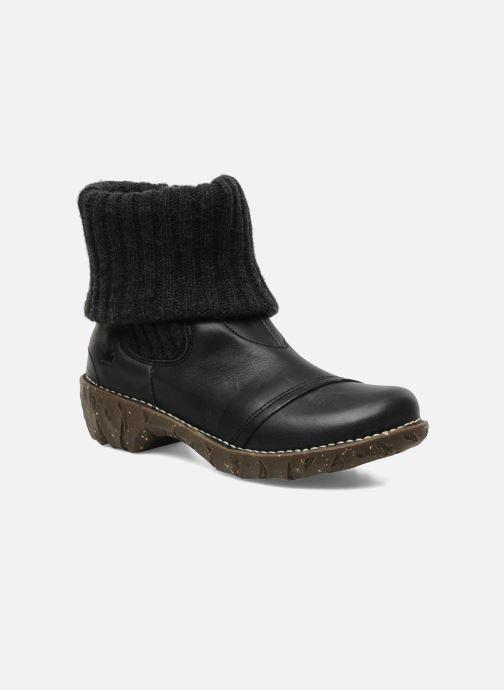 ff588ed5 Ankelstøvler El Naturalista Iggdrasil N097 Sort detaljeret billede af skoene