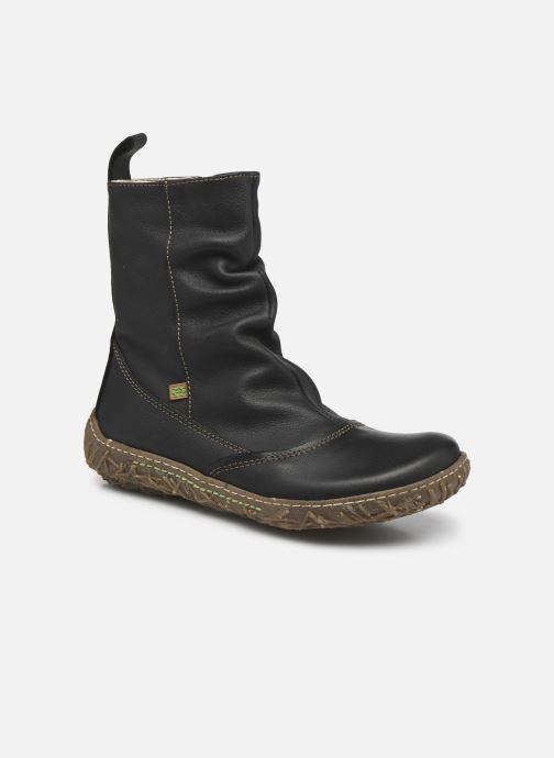 0776dc17 Ankelstøvler El Naturalista Nido Ella N722 Sort detaljeret billede af skoene