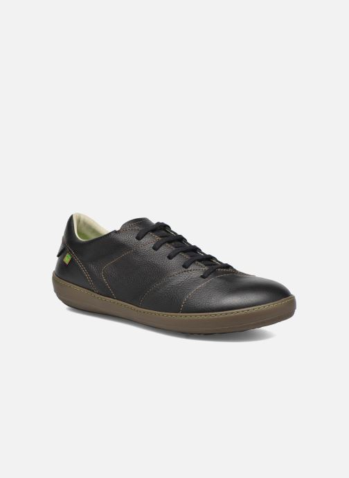 Lace-up shoes El Naturalista Meteo N211 Black detailed view/ Pair view