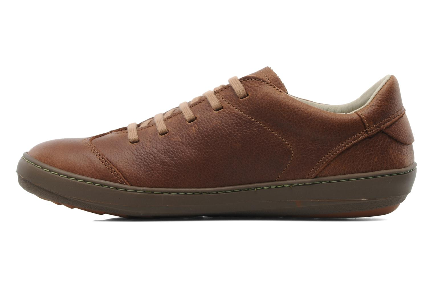 Lace-up shoes El Naturalista Meteo N211 Brown front view