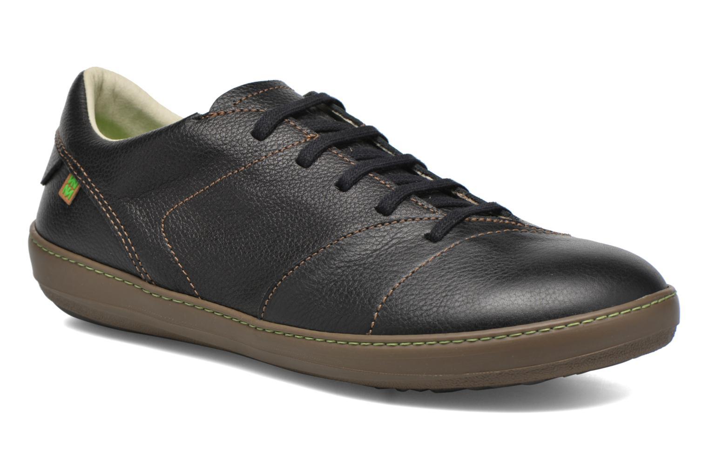 Lace-up shoes El Naturalista Meteo N211 Black detailed view/ Pair view